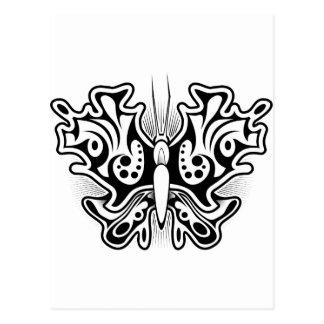 Carte Postale Conception de tatouage de papillon