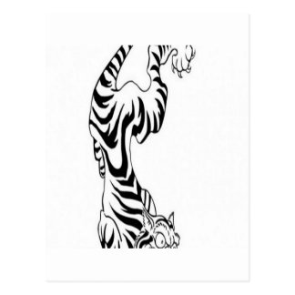 Carte Postale Conception de tigre de style de tatouage