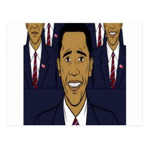 Carte Postale Conception du Président Barack Obama