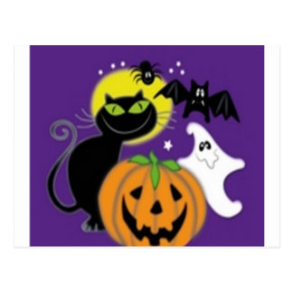 Carte Postale Conception effrayante de Halloween