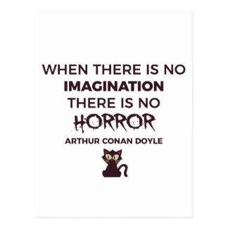 Carte Postale Conception effrayante effrayante de Halloween
