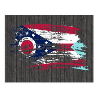 Carte Postale Conception fraîche de drapeau d'Ohioan