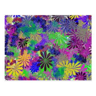 Carte Postale Conception hippie de flower power