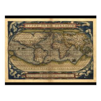 Carte Postale Conception historique du monde d'atlas vintage de