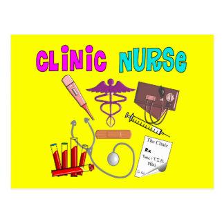 Carte Postale Conception médicale unique de cadeaux d'infirmière