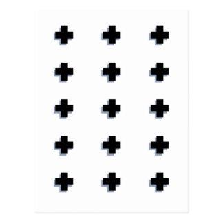 Carte Postale Conception scandinave moderne de croix suisses