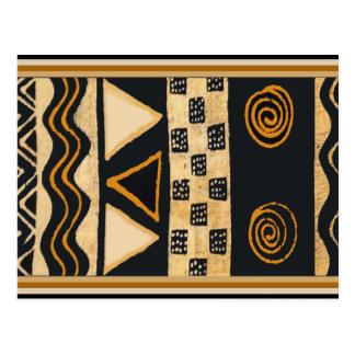 Carte Postale Conception tribale de Natif américain de sud-ouest