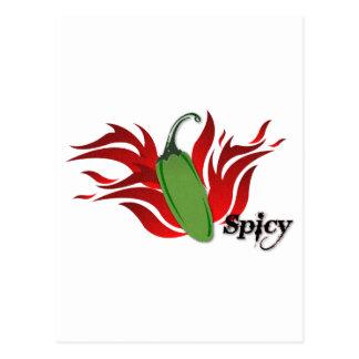 Carte Postale Conception verte de poivre de piment