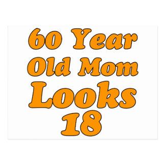 Carte Postale conceptions d'anniversaire de 60 ans