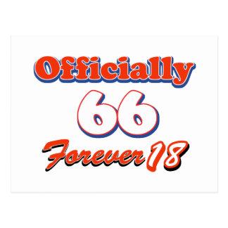 Carte Postale conceptions d'anniversaire de 66 années