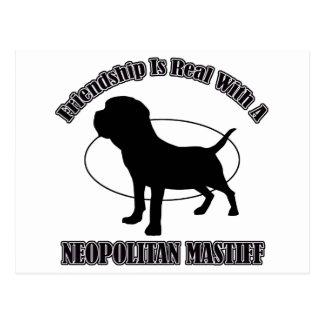 CARTE POSTALE CONCEPTIONS DE CHIEN DE MASTIFF DE NEOPOLITAN