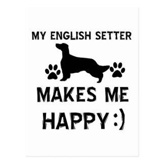 Carte Postale Conceptions de chien de poseur anglais
