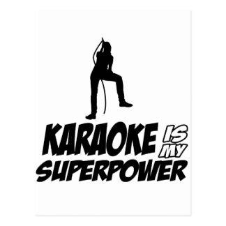 Carte Postale Conceptions de karaoke