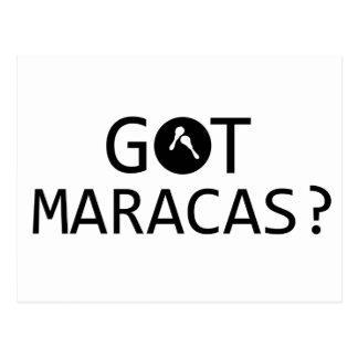 Carte Postale Conceptions de musique de MARACAS