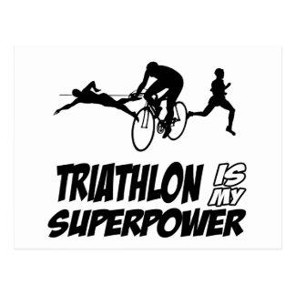 Carte Postale Conceptions de triathlon