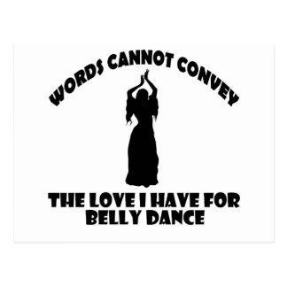 Carte Postale Conceptions fraîches de danse de ventre