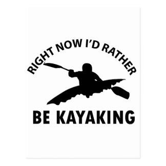 Carte Postale conceptions kayaking fraîches