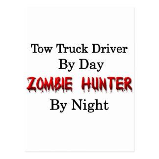 Carte Postale Conducteur de dépanneuse/chasseur de zombi
