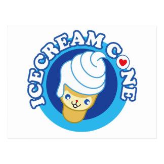 Carte Postale cône de glace