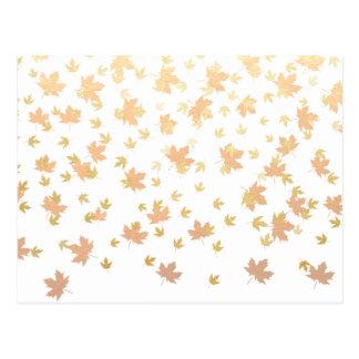 Carte Postale Confettis de feuille d'or sur l'arrière - plan