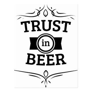 Carte Postale Confiance en bière