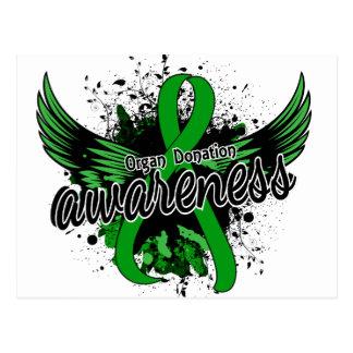 Carte Postale Conscience 16 de donation d'organe