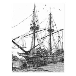 Carte Postale Constante grande de Susan de bateau