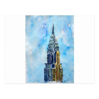Carte Postale Construction de New York City Chrysler