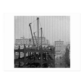Carte Postale Construction d'un Times Square New York City