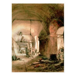 Carte Postale Construisant le tunnel de la Tamise, c.1830