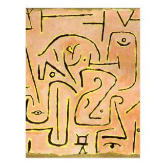 Carte Postale Contemplation par Paul Klee