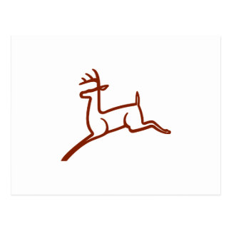 Carte Postale Contour de cerfs communs