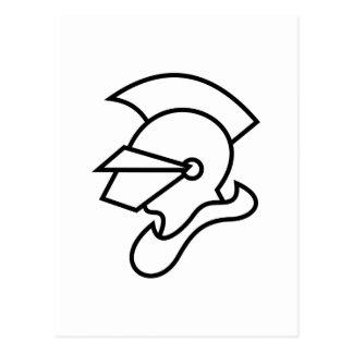Carte Postale Contour de chevalier