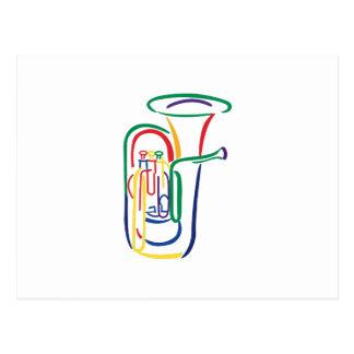 Carte Postale Contour de tuba