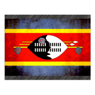 Carte Postale Contraste coloré SwaziFlag