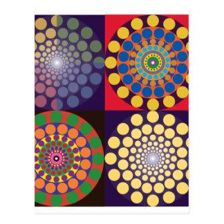 Carte Postale Contrastes de couleur en cercles