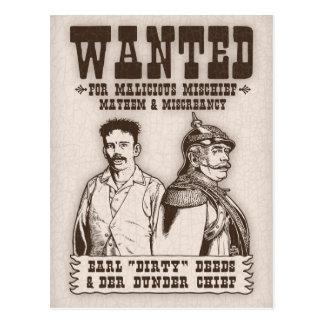 Carte Postale Contrats sales et chef de Der Dunder