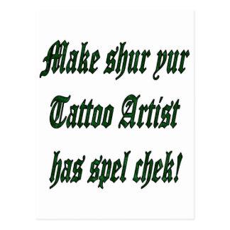Carte Postale Contrôle de charme de tatouage