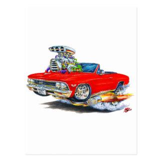 Carte Postale Convertible 1966 rouge de Chevelle