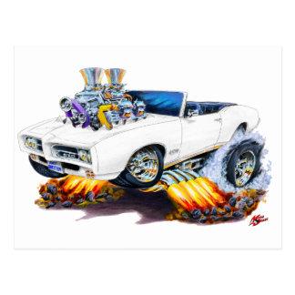 Carte Postale Convertible blanc de 1969 GTO