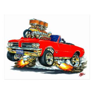 Carte Postale Convertible rouge de 1964 GTO