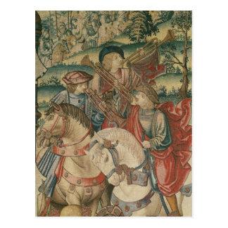 Carte Postale Coordonnée des trompettistes à cheval