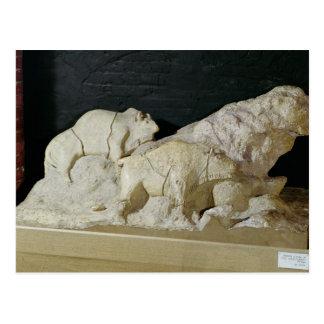 Carte Postale Copie de la sculpture des bisons, le