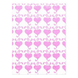 Carte Postale Copie de soie de bijou d'éclat de BabyPink