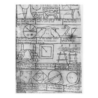 Carte Postale Copie de télécopie des chiffres géométriques