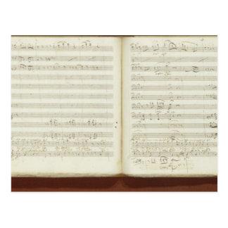 Carte Postale Copie manuscrite 'du Flute magique