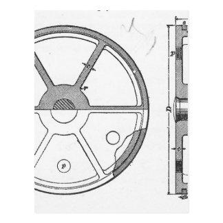 Carte Postale Copie mécanique industrielle d'éphémères de