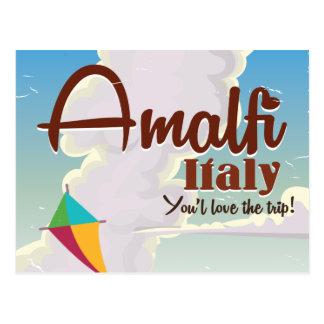 Carte Postale Copie vintage d'affiche de voyage de l'Italie de