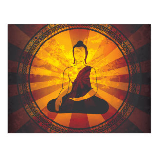 Carte Postale Copie vintage de Bouddha