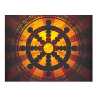 Carte Postale Copie vintage de roue de Dharma